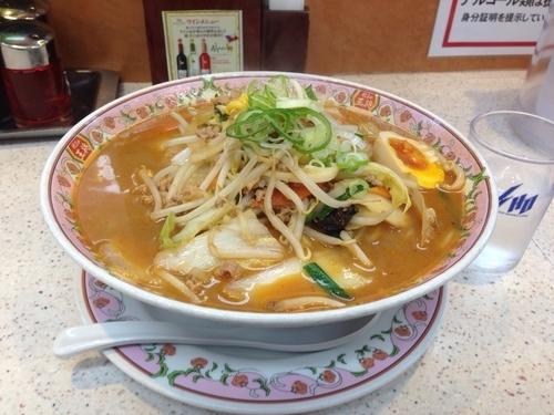 「味噌ラーメン(大盛り)810円」@餃子の王将 本厚木店の写真