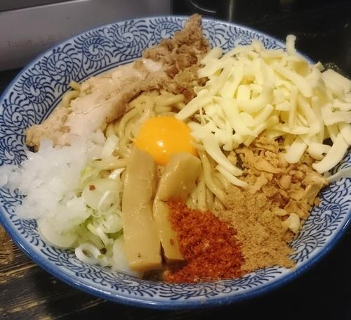 「まぜそば 300G +チーズ 980円」@狼煙 〜NOROSHI〜の写真
