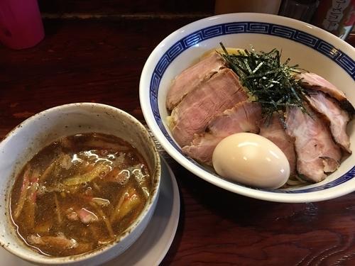 「肉玉つけそば 1150円」@にぼっしー中華そば家の写真
