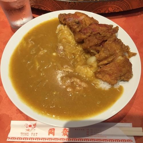 「排骨カレー」@中華菜館 同發 本館の写真