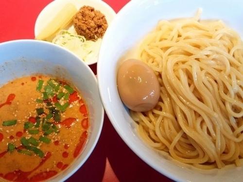 「冷やし旨辛担々麺(中盛)+味玉」@らーめん・つけめん こてんぱんの写真