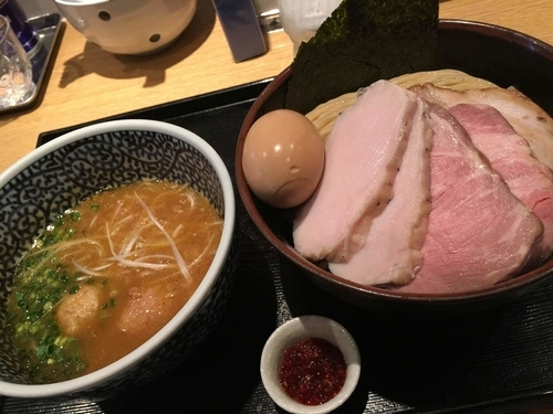 「特製濃厚魚介つけ麺 +中盛+辛味」@麺屋 一燈の写真