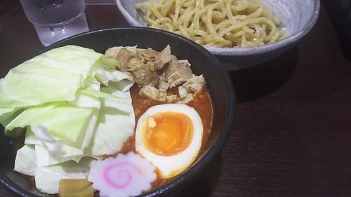 「【限定】豚辛つけめん(並)¥820」@らぁ麺 一歩の写真