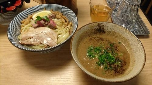 「ラム豚骨つけめん 塩スパイス(中)」@自家製麺 MENSHO TOKYOの写真