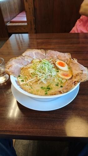 「白みそチャシュー麺+味玉」@ラーメン屋 壱番亭 境店の写真