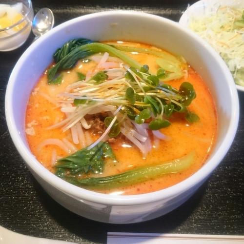 「旨辛担々刀削麺セット @500円(クーポン価格)」@満口の写真