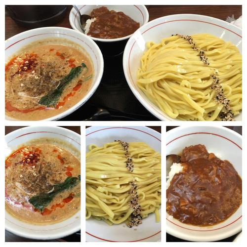 「期間限定  坦々つけ麺 850円+20食限定 カレー丼 100円」@真喰者の写真