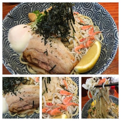 「釜揚げ桜えびとしらすの和風ぶっかけ太麺  810円」@麺や 来味の写真