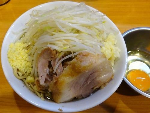 「塩ドクロ(830円)ニンニク」@ラーメン二郎 八王子野猿街道店2の写真
