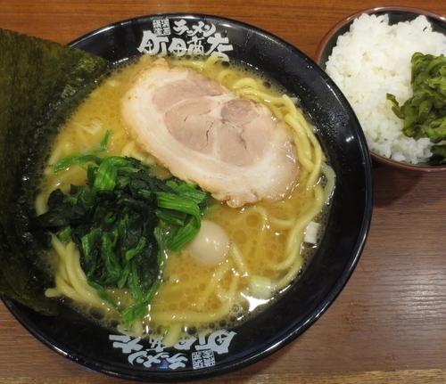 「ラーメン+サービスライス 300円※記念価格」@横浜家系 池袋商店の写真