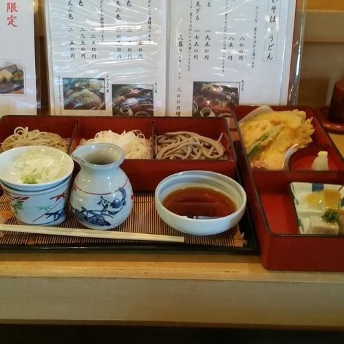 「天三色(2,350円)」@江戸変わりそば 飯嶋の写真