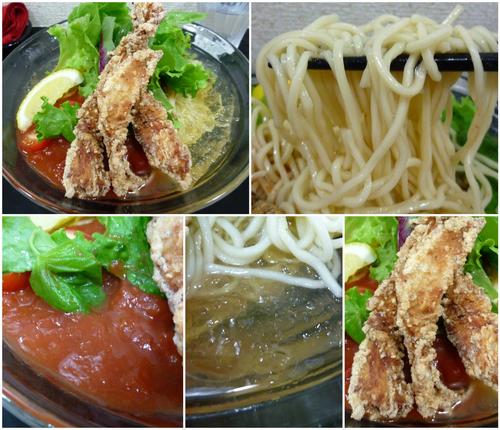 「【限定】冷やしトマト麺¥850」@自家製麺SHINの写真