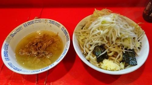 「小つけ麺(800円)ヤサイニンニク」@ラーメン二郎 府中店の写真