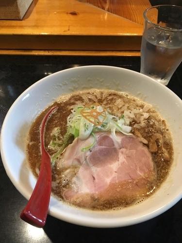 「しょうゆ(マグロ豚骨) 770円」@麺処 蓮海 平岸店の写真
