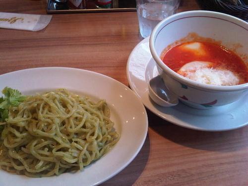 「ジェノベーゼトマトつけ麺」@トマトの花 吉祥寺店の写真