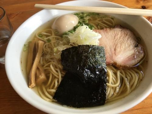 「煮干(塩)+味玉」@喜乃壺の写真