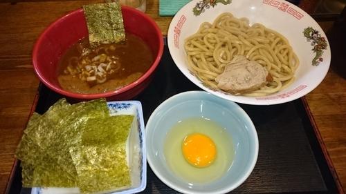「つけ麺あつもり(麺少なめ)+のり+生たまご   ¥890」@市川ウズマサの写真
