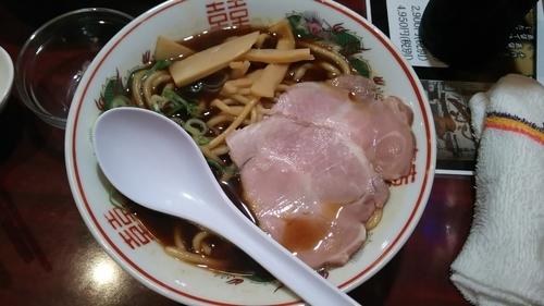 「高井田中華そば」@麺鶏 宮崎郷土料理どぎゃん 立売堀店の写真