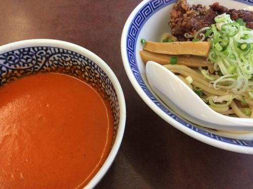 「タン唐バターチキンカレーつけ麺」@濃厚鶏豚骨魚介つけ麺 かず屋の写真