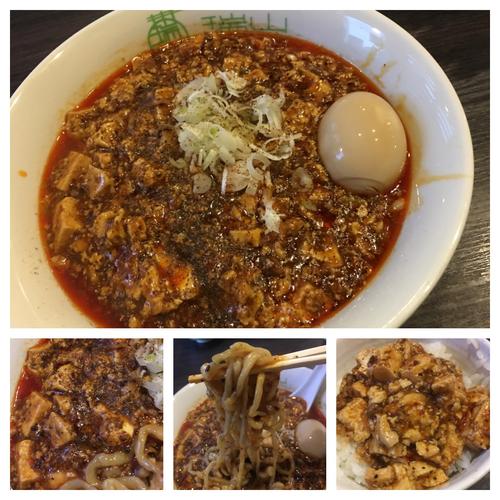 「麻婆豆腐麺 800円+ライス 100円 味玉ラーパス無料」@中華蕎麦 瑞山(ZUIZAN)の写真