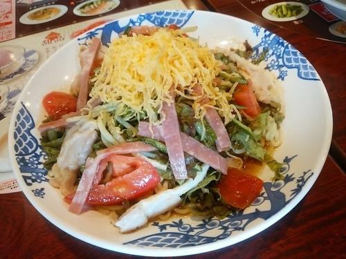 「たっぷり野菜の7品目冷やし中華(並盛・醤油)787円」@バーミヤン 渋川店の写真