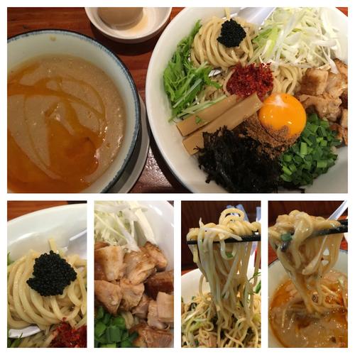 「期間限定 濃厚オマールエビまぜつけ麺キャビア添え 950円」@麺や 来味の写真