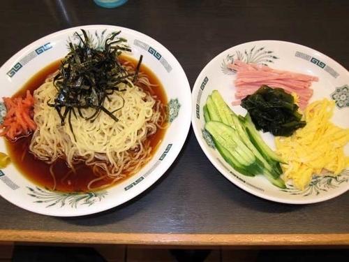 「黒酢しょうゆ冷し麺 510円」@日高屋 神田西口店の写真