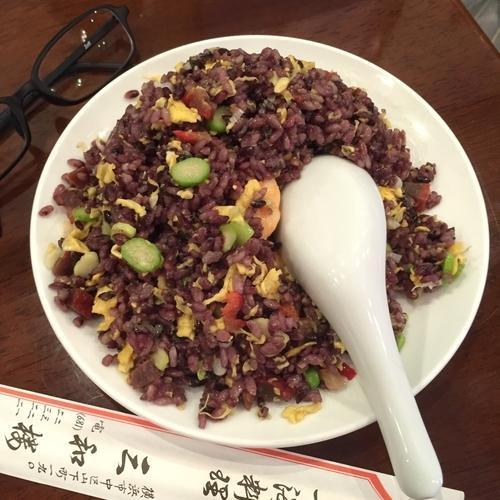 「元祖 黒米炒飯」@三和楼の写真