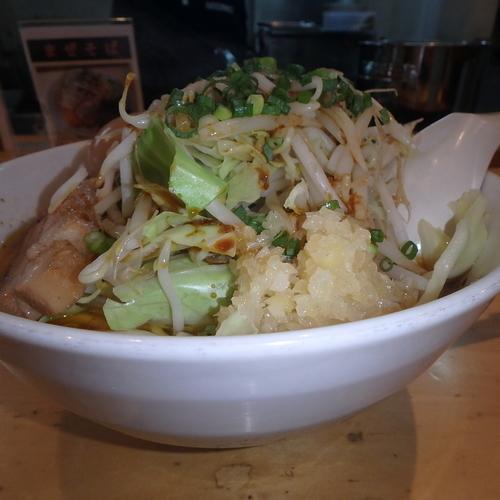 「らー麺(680円)⇒力島に変更(16:30~)」@麺歩 バガボンドの写真