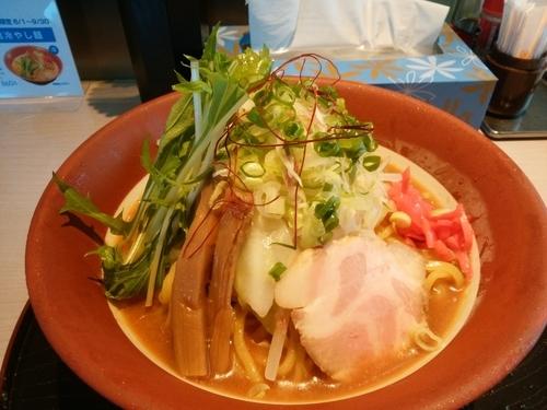 「味噌冷やし麺+ビール」@味噌らーめん専門店 味噌三礎の写真