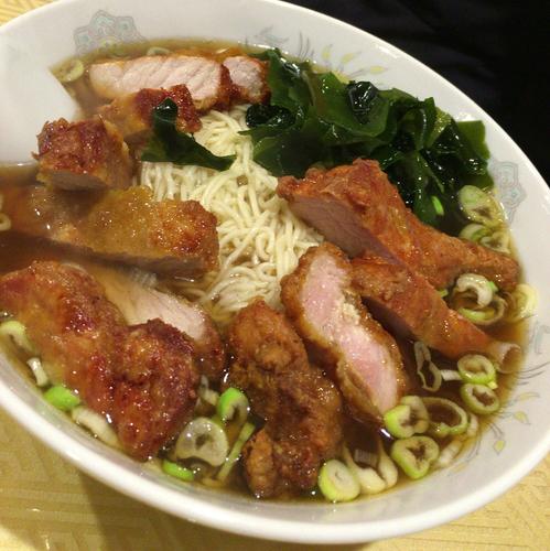 「排骨麺 800円」@中華食堂 龍華園の写真