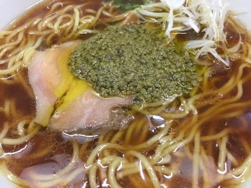 「醤油そば~牡蠣のアヒージョ添え」@中華そば 大井町 和渦の写真