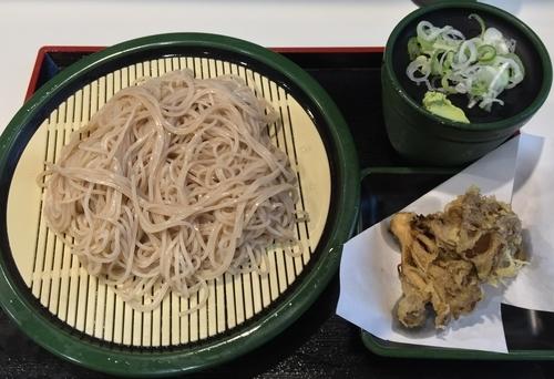 「もりそば+舞茸天(¥320+¥100)」@ゆで太郎 伊勢佐木長者町店の写真
