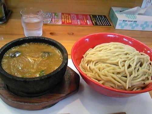 「(限定A)海老と鶏のレッドカレーつけ麺(中盛)」@活龍 海老蟹専門 甲殻堂の写真