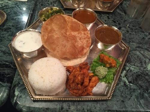 「ミールスBセット、チキンビリヤニ」@南インド料理 ダルマサーガラの写真
