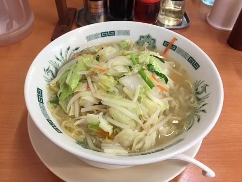 「野菜たっぷりタンメン大盛」@日高屋 元住吉店の写真
