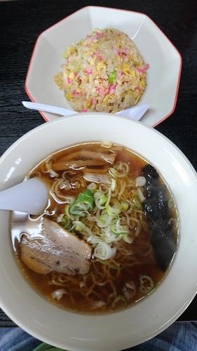 「ラーメン チャーハン 800円」@らーめん河内屋の写真