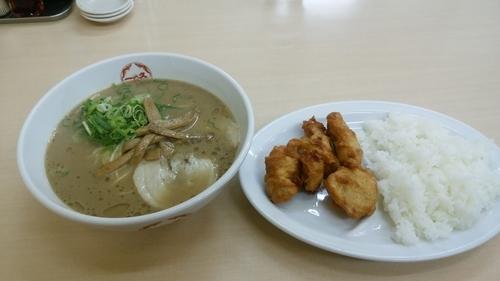 「から揚げ定食」@中華そば 一久 下松店の写真