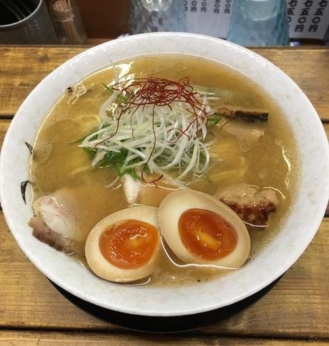 「蟹塩そば+味玉」@麺屋 裕の写真