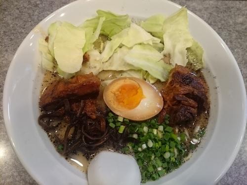 「特製角煮(黒)¥500」@麺屋 MANIの写真