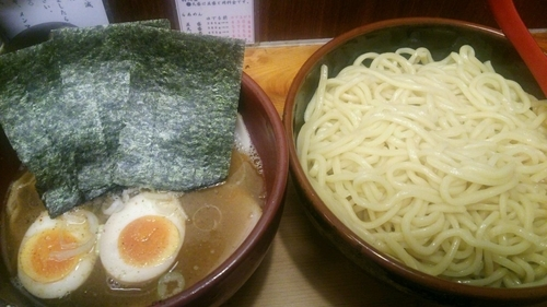 「全部増しつけ麺(塩味・太麺・大盛)」@竹屋 田無店の写真