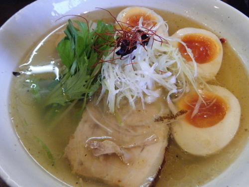 「魚介のジュ あっさり塩そば750円+クーポン味玉0円」@麺屋 さんじの写真