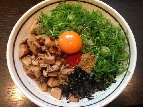 「ねぎ塩まぜそば」@濃厚担々麺 はなび 蟹江店の写真