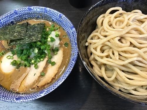 「つけ麺中盛り(800円)とトッピングに特製(250円)」@二代目 狼煙 ~心~の写真