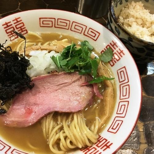 「【限定】濃厚渡り蟹そば(ガーリックライス付)」@特級鶏蕎麦 龍介の写真
