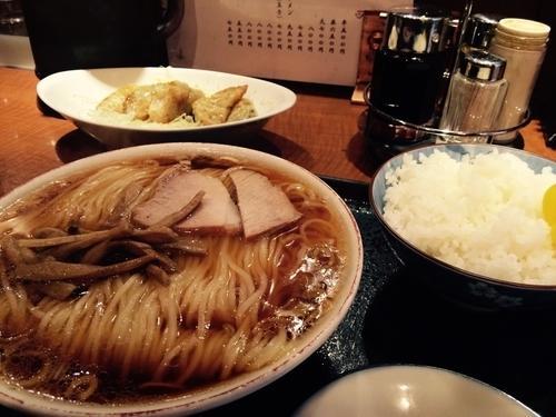 「ラーメン 餃子」@上海楼の写真