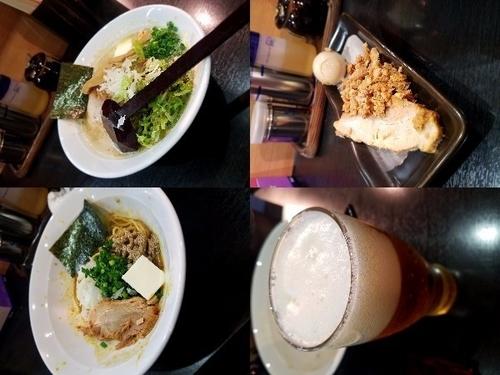 「【限定】濃厚鶏白湯帆立の塩らぁめん+特製+和え玉+ビール」@二代目狼煙 分店 弐の写真