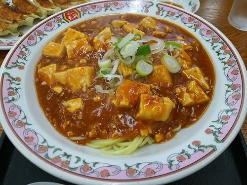「【限定】麻婆麺 +餃子:サービス券」@餃子の王将 松本島内店の写真