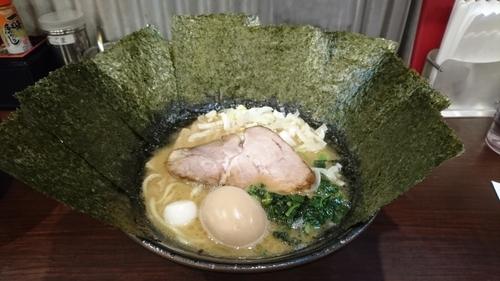 「醬油ラーメン丼ぶりセット+味玉+他」@横浜家系ラーメン 極み家の写真