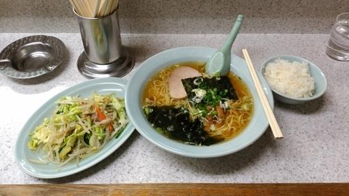 「ラーメン+ミニ野菜炒め+半ライスセット」@ラーメンタイムの写真